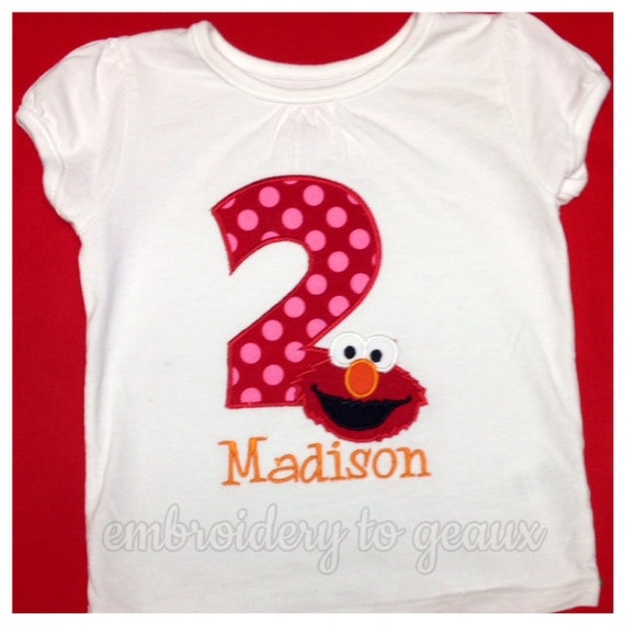 Elmo Inspired Birthday Shirt Or By EmbroiderytoGeaux On Etsy