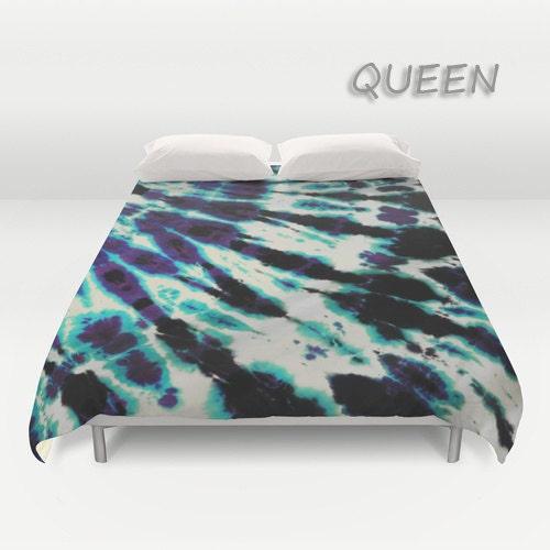 Duvet Cover Comforter Cover Tie Dye Bedding Purple Blue Black