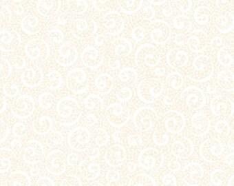 Quilting Treasures Ecru 'Quilting Illusions' Curly Cue Fabric 202