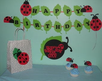 Lady Bug First Birthday or Baby Shower pack