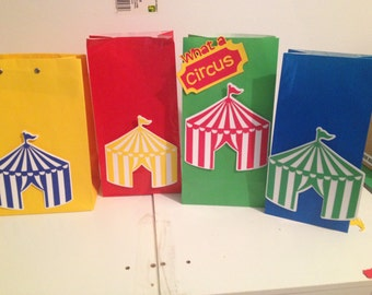 Circus Train Birthday Party Favor Bags
