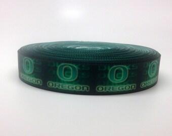 7/8 Oregon Ducks Grosgrain Ribbon