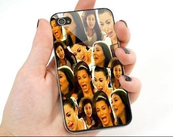 Kim kardashian cry collage print on cover for iphone 4 - Kim kardashian crying collage ...