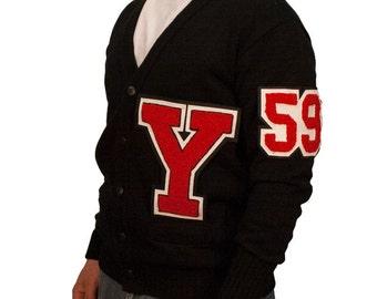 Varsity Letter Sweater w/ Chenille Number & Letter