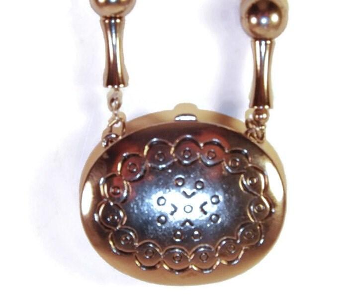 estee lauder solid perfume pendant necklace vintage
