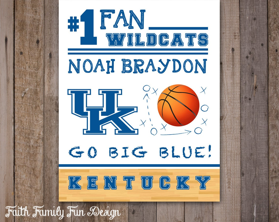 Kentucky Basketball Named Preseason Favorite For Sec Crown: Kentucky Wildcats Team Sign. College Basketball Decor. Man