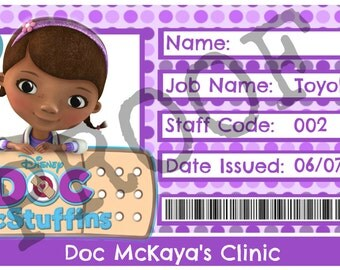 Doc McStuffins ID Badges for Boys and Girls