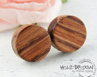 Wooden Ear studs Fake gauge Plugs wooden earrings fake piercing faux gauge mini earring small ear studs