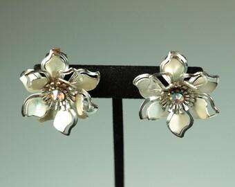 Rhinestone Flower Earrings