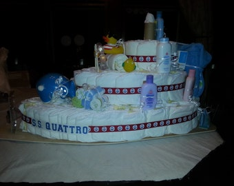 3 Tier Solid Diaper Boat