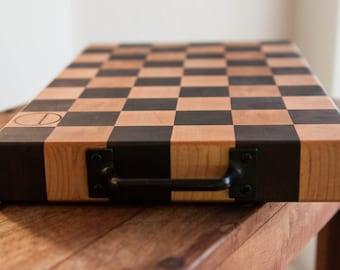 End Grain Cutting Board in Checkerboard Pattern