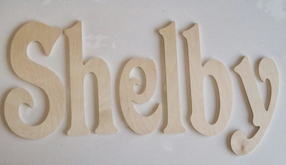 10 inch Unfinished Wood Letters - Baby Nursery Letters - Decorative Name (Different Sizes Available)