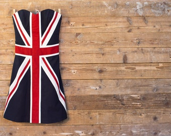 Union Jack strapless dress - UK - England