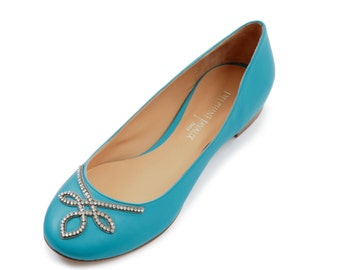 Ballerina jewelry - TURQUOISE leather