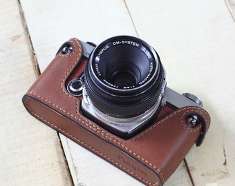 Olympus OM1 om2 om3 om4 cameras case, leather camera case, Olympus Special Case,Leather Camera Case