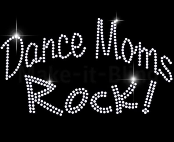 Diy Rhinestone Iron On Heat Transfer Dance Mom Rock From