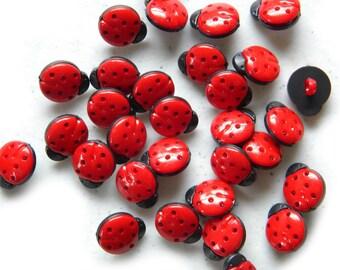 10 Ladybug Buttons