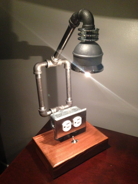 Items Similar To Rustic And Industrial Pipe Lamp Perfect