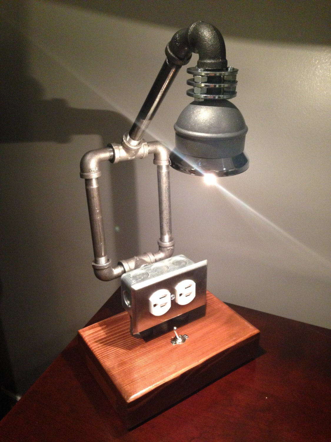 Rustic And Industrial Pipe Lamp Perfect For By