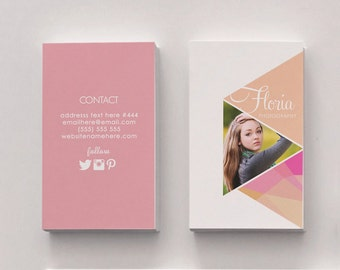 Floria double sided business card - Instant download
