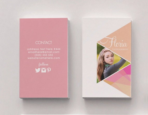 Floria double sided business card Instant