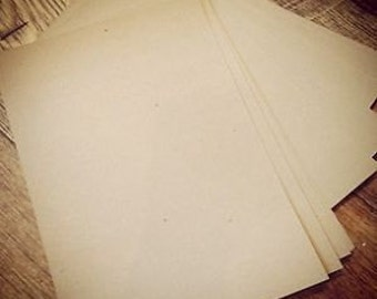20 sheets of Recycled Brown Kraft Manilla Card 280gsm A4