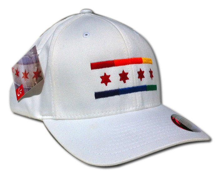 Blackhawks Flag Hat Gay Pride Chicago Flag Hat