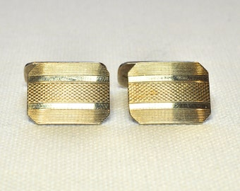 Silver Cufflinks with Gold Onlay
