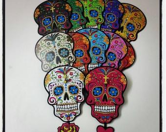 Make your own Sugar Skull - Day of the Dead -Dia de Los Muertos - Calavera - Wall Clock
