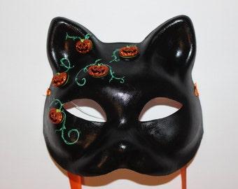 Jack o lantern cat mask
