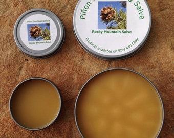 Piñon Pine Healing Salve 4 oz. 100% Organic handcrafted, Pinon, Pinion, Pinyon. Good for bug bites, dry skin, rashes, sunburns, wounds...