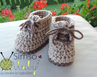 Crocheted slippers - Egyptian cotton.