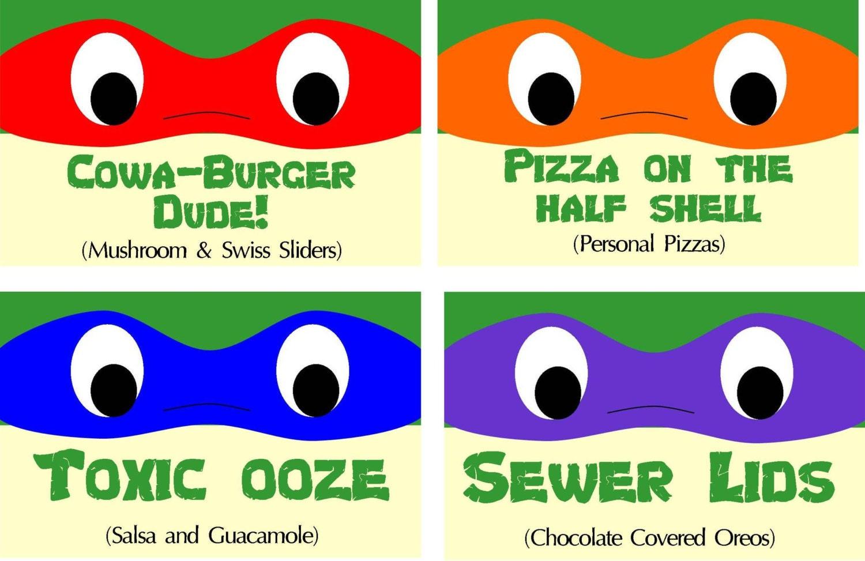 INSTANT DOWNLOAD Teenage Mutant Ninja Turtle Inspired Food