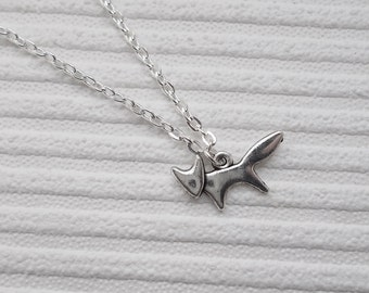 silver fox necklace handmade necklace silver necklace fox jewellery fox charm necklace fashion jewellery silver charm necklace gift women