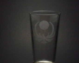 Skyrim-Inspired Nightingale Etched Pint Glass