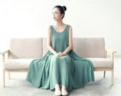 green/purple summer vest dress sundress maxi leisure dress party dress plus size women clothing IDEAQ5014