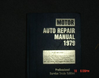 1979 Motor Auto Repair Manual 42nd Edition Professional Service Trade Edition