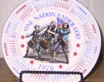 1978 Calendar Plate