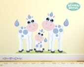 Cow Family | Non-toxic Wall Sticker Idea Kit For Interactive Decorating and Inspiring Creativity In Kids.