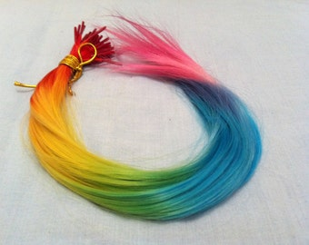 "RAINBOW~ Bonded Synthetic Hair Extension 16"" EXTRA LONG"