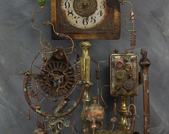 The Steam Powered Clock with Time Machine and Dimensional Travel Additions.