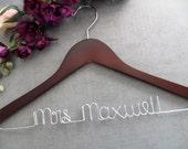 Custom Wedding Hanger - Wedding Dress Hanger - Bridal Hanger - Shower Gift - Personalized Hanger - Bridesmaid Hanger - Wire Wedding Hanger