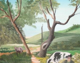Impressionist Oil Landscape Painting