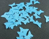 50pc Blue Butterfly Die Cuts - Confetti Paper Goods Scrapbooking Die Cut Die Cut Butterflys Baby Shower Confettis Paper Shower Confetti