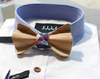Wood Bowtie - Modern Boys Bowtie, Toddler Bowtie Toddler Bow tie,Pre Tied and Adjustable