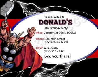 Thor Birthday Invitation - Printable