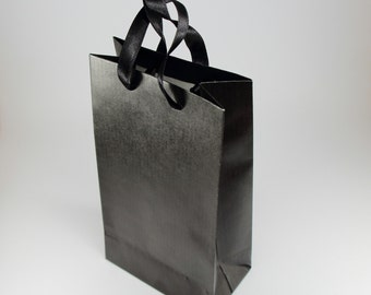 Gift bags etsy au 15 small black paper bags with handles party favor bags birthday gift bags negle