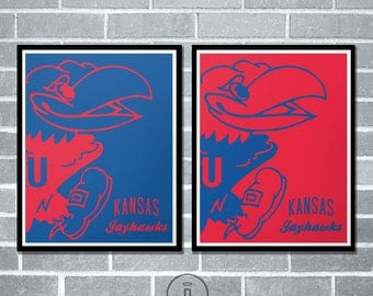 Special Edition Kansas Jayhawks Graphic Print - University of Kansas Jayhawk Poster
