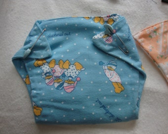 homemade baby diapers/burp towels