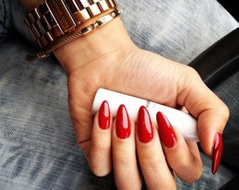 24 Stiletto Nails - Press on Nails - Glue on Nails - Pointy Sharp Claw Nails - Vampire Claw Nail